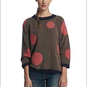 Anthropologie Numph Polka Dot Sweater